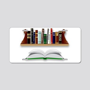 Books Aluminum License Plate