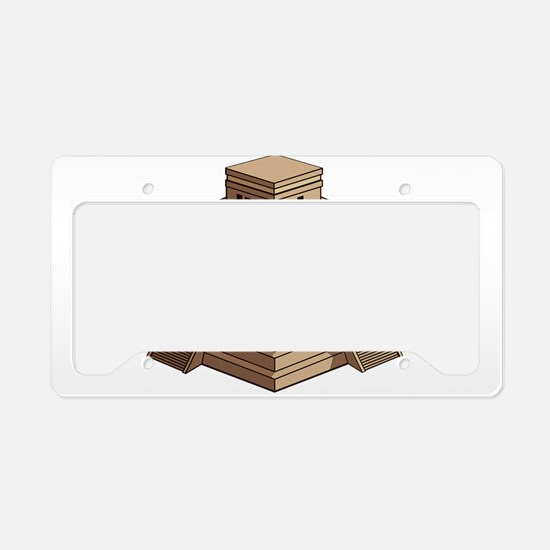 World Mayan constructions lan License Plate Holder
