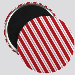 Red Candy Stripe Pattern Magnet