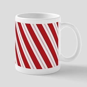 Red Candy Stripe Pattern Mug