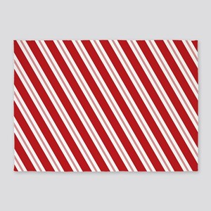 Red Candy Stripe Pattern 5'x7'Area Rug