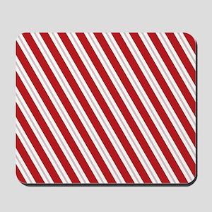 Red Candy Stripe Pattern Mousepad