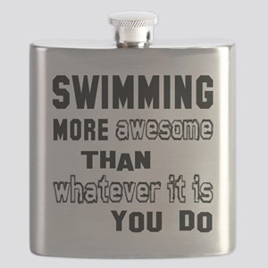 Swimming more awesome than whatever it is yo Flask