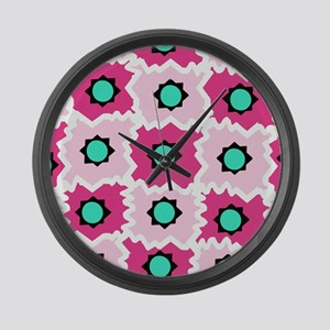 Crazy space orb Large Wall Clock