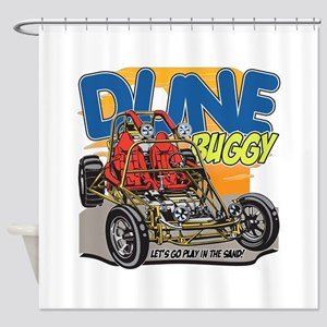 Dune Buggy Let's Go Play in the San Shower Curtain