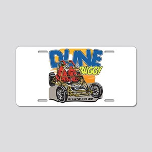 Dune Buggy Let's Go Play in Aluminum License Plate