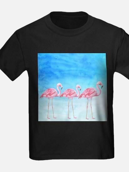 Flamingo lagune- watercolor artwork T-Shirt
