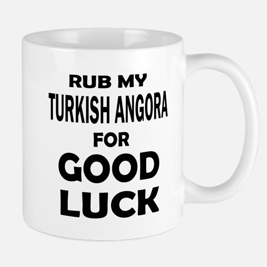 Rub my Turkish Angora for good l Small Mug