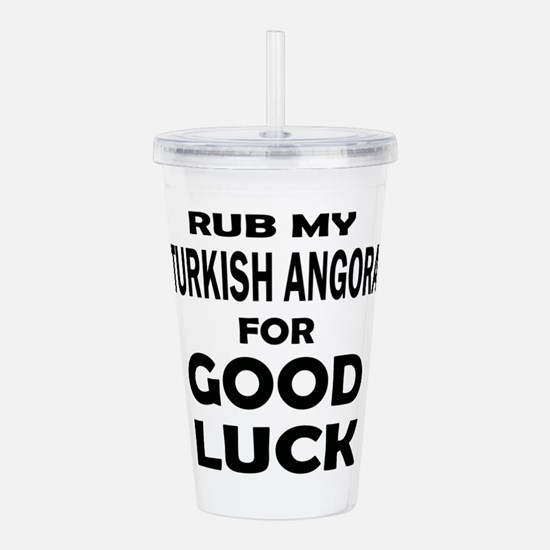 Rub my Turkish Angora Acrylic Double-wall Tumbler