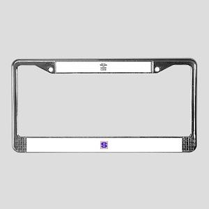 Rub my Turkish Angora for good License Plate Frame