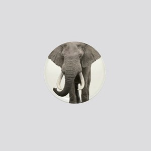 Realistic elephant design Mini Button