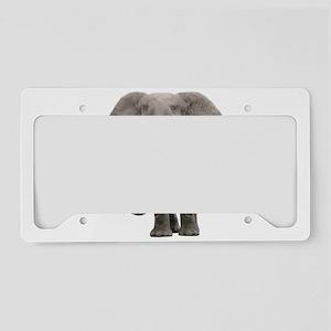 Realistic elephant design License Plate Holder