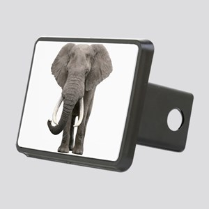 Realistic elephant design Rectangular Hitch Cover