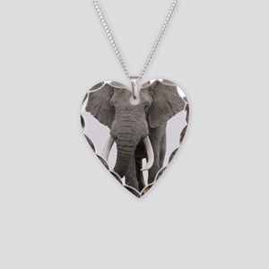 Realistic elephant design Necklace Heart Charm
