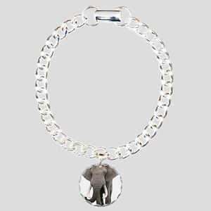 Realistic elephant desig Charm Bracelet, One Charm
