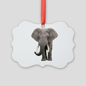 Realistic elephant design Picture Ornament