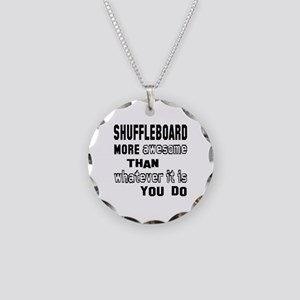 Shuffleboard more awesome th Necklace Circle Charm