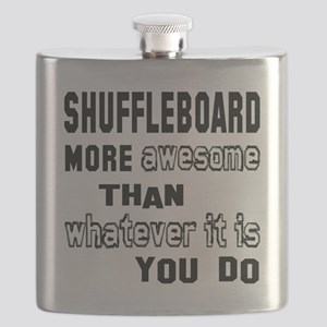 Shuffleboard more awesome than whatever it i Flask