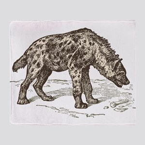 Vintage hyena art Throw Blanket