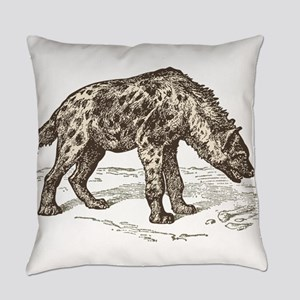 Vintage hyena art Everyday Pillow