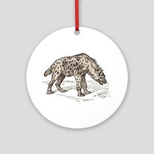 Vintage hyena art Round Ornament
