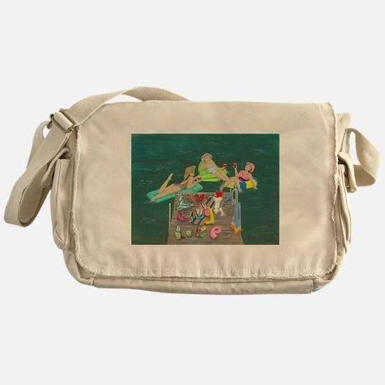 Funny Summer Messenger Bag
