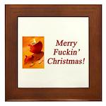 Merry Fuckin' Christmas Framed Tile