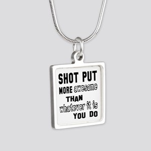 Shot Put more awesome than Silver Square Necklace