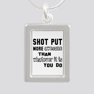 Shot Put more awesome th Silver Portrait Necklace