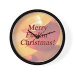 Merry Fuckin' Christmas Wall Clock