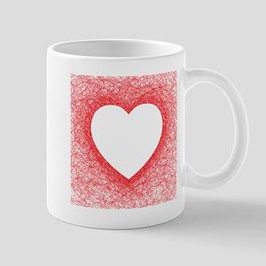 Heart shaped red line Mugs