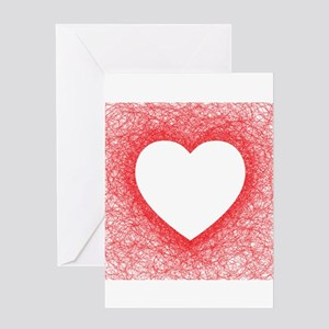 Heart shaped greeting cards cafepress heart shaped red line greeting cards m4hsunfo