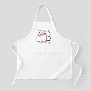 15th Birthday Gifts BBQ Apron