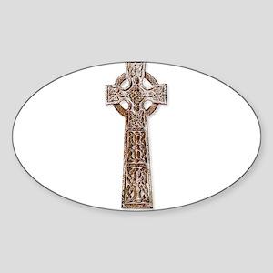 Wooden Celtic Cross Sticker