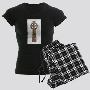 Wooden Celtic Cross Women's Dark Pajamas