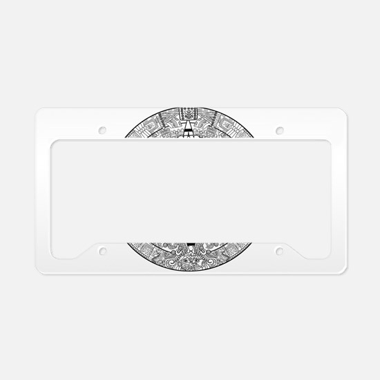Mayan pattern art License Plate Holder