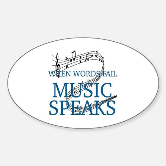 Funny Music Sticker (Oval)
