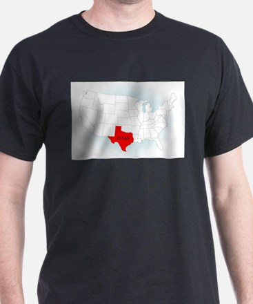 State Highlited Texas T-Shirt