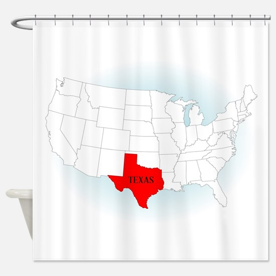 State Highlited Texas Shower Curtain