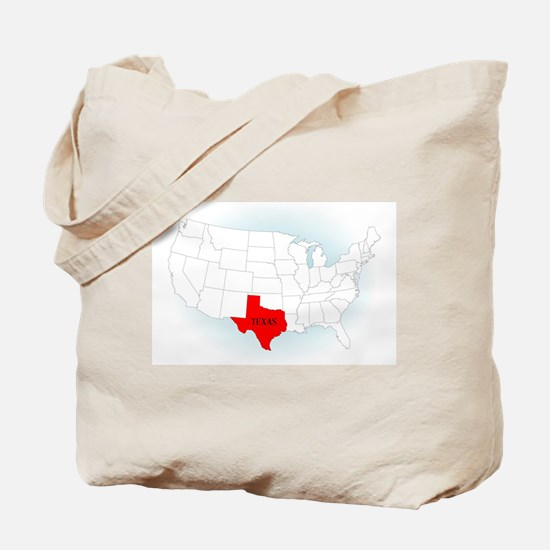 State Highlited Texas Tote Bag