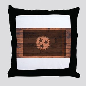 Tennessee Flag Brand Throw Pillow