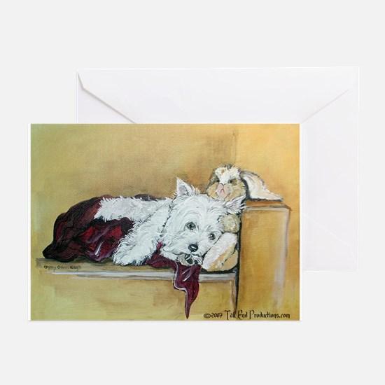 Westie and Bunny Greeting Cards (Pk of 20)