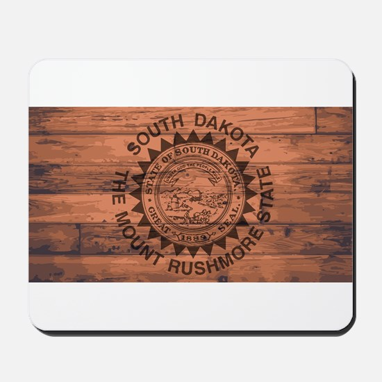 South Dakota Flag Brand Mousepad