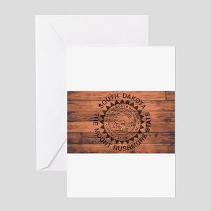 South Dakota Flag Brand Greeting Cards