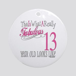 13th Birthday Gifts Ornament (Round)