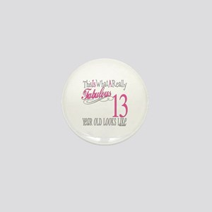 13th Birthday Gifts Mini Button