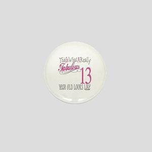 13th Birthday Gifts Mini Button