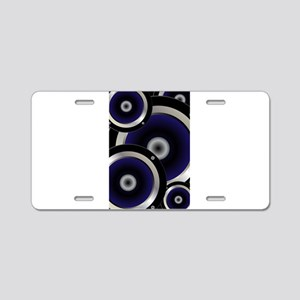 Music Speaker Background Aluminum License Plate