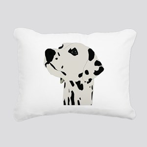 Pes Dalmatian art Rectangular Canvas Pillow