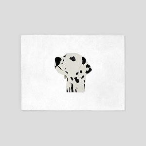 Pes Dalmatian art 5'x7'Area Rug